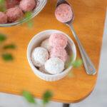【グルテンフリー】オイルで簡単♪アーモンドフラワーのスノーボールのスタイリングと撮影のコツ。 料理研究家・フードコーディネーター藤井玲子のレシピと料理写真。 れこれしぴ