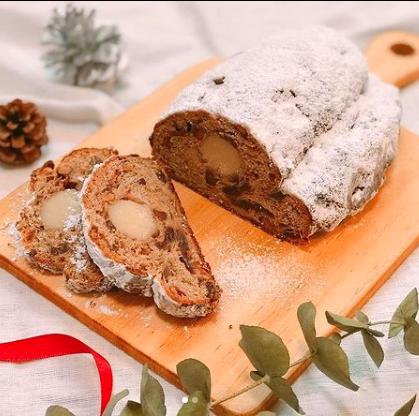 オンラインパン教室 栗のシュトレン 料理研究家・フードコーディネーター藤井玲子のレシピと料理写真。れこれしぴ