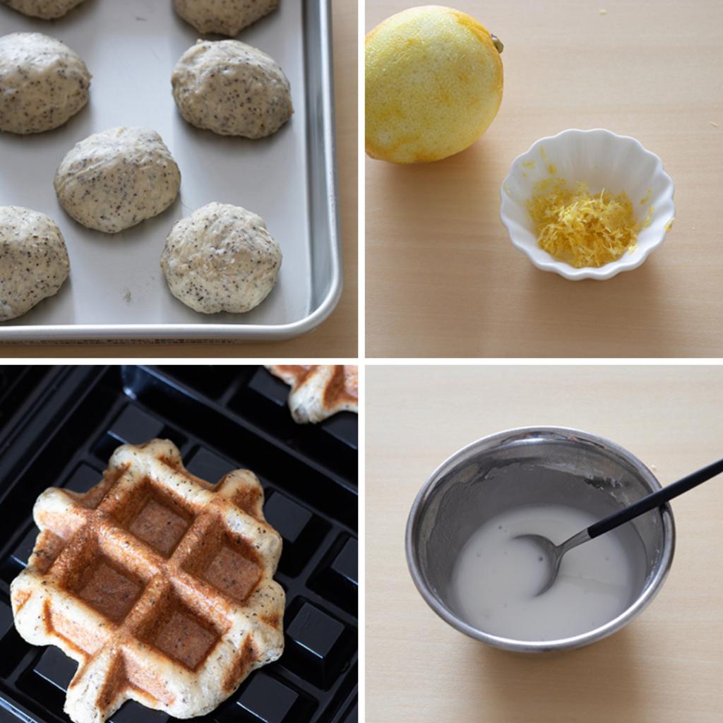 レモン香る♩紅茶のワッフルのレシピと作り方。 料理研究家・フードコーディネーター藤井玲子のレシピと料理写真。れこれしぴ