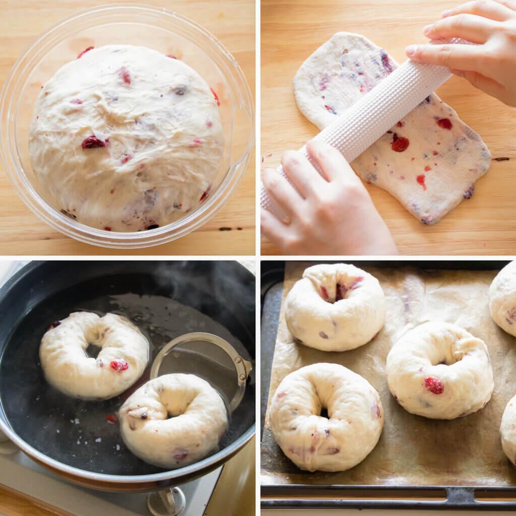 甘酸っぱい♡ベリーとクリームチーズのベーグルのレシピと作り方。スタイリングと料理写真の撮り方。 料理研究家・フードコーディネーター藤井玲子のレシピと料理写真。れこれしぴ