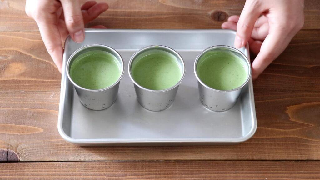 抹茶のババロアのレシピと作り方。スタイリングと料理写真の撮り方。 料理研究家・フードコーディネーター藤井玲子のレシピと料理写真。れこれしぴ