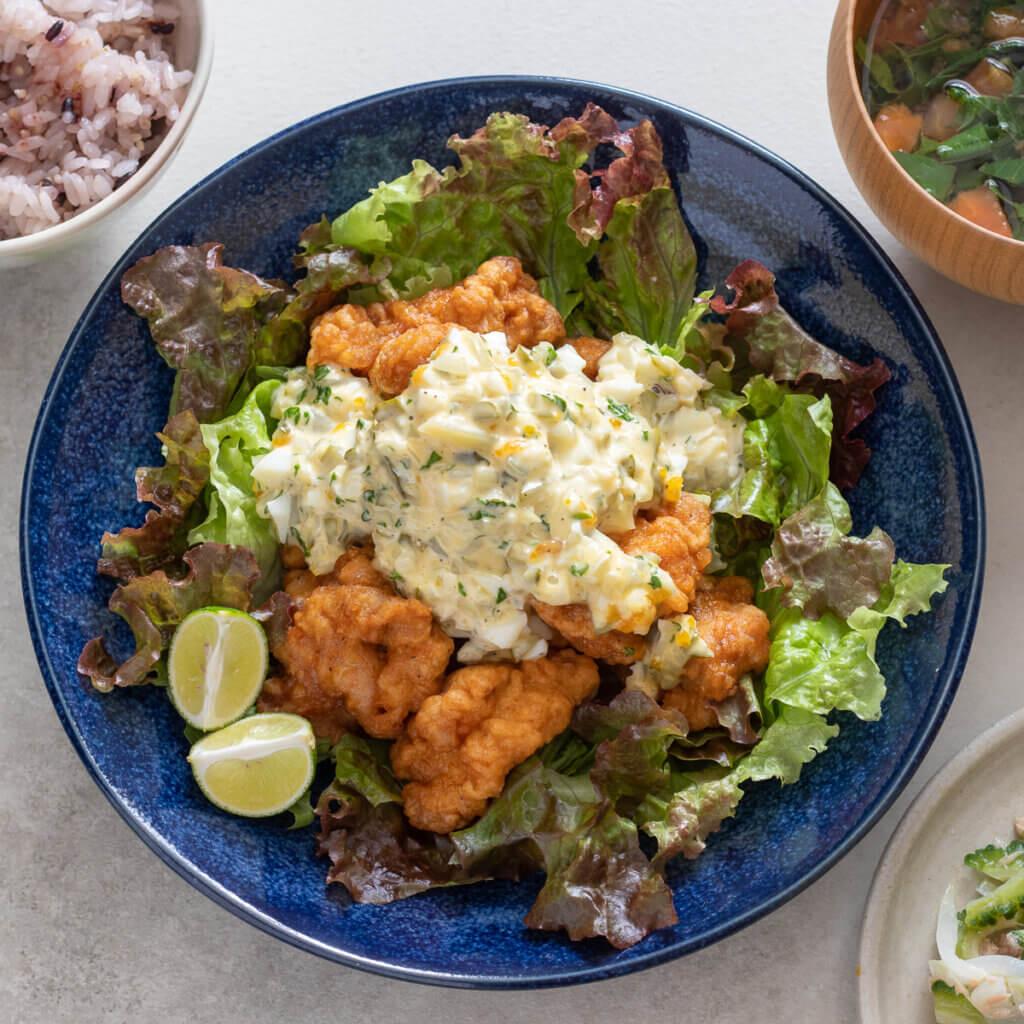 チキン南蛮のレシピと作り方。スタイリングと料理写真の撮り方。 料理研究家・フードコーディネーター藤井玲子のレシピと料理写真。れこれしぴ