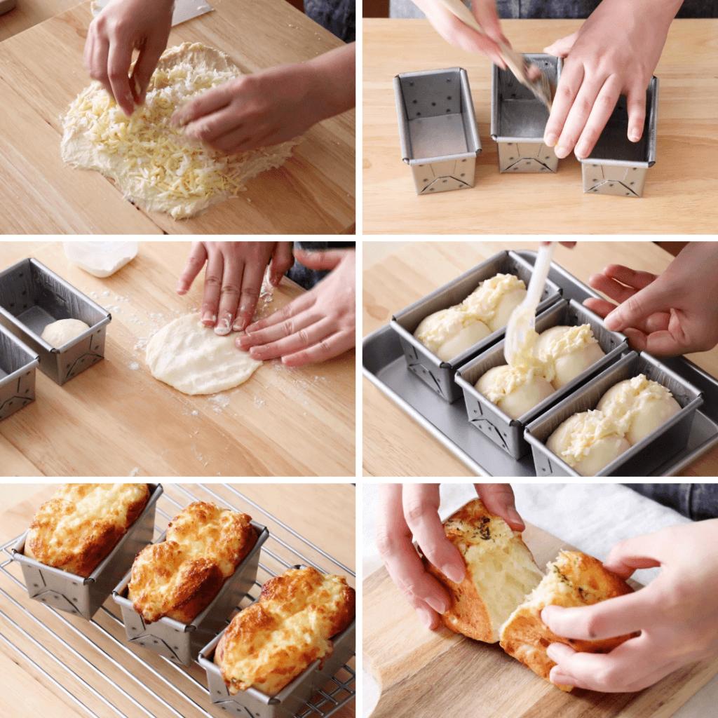 しっとりふわふわ!オニオンチーズブレッドのレシピと作り方。スタイリングと料理写真の撮り方。 料理研究家・フードコーディネーター藤井玲子のレシピと料理写真。れこれしぴ