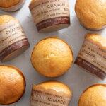超簡単ホットケーキミックスとプリンで作るマフィンのレシピと作り方。 料理研究家・フードコーディネーター藤井玲子のレシピと料理写真。れこれしぴ