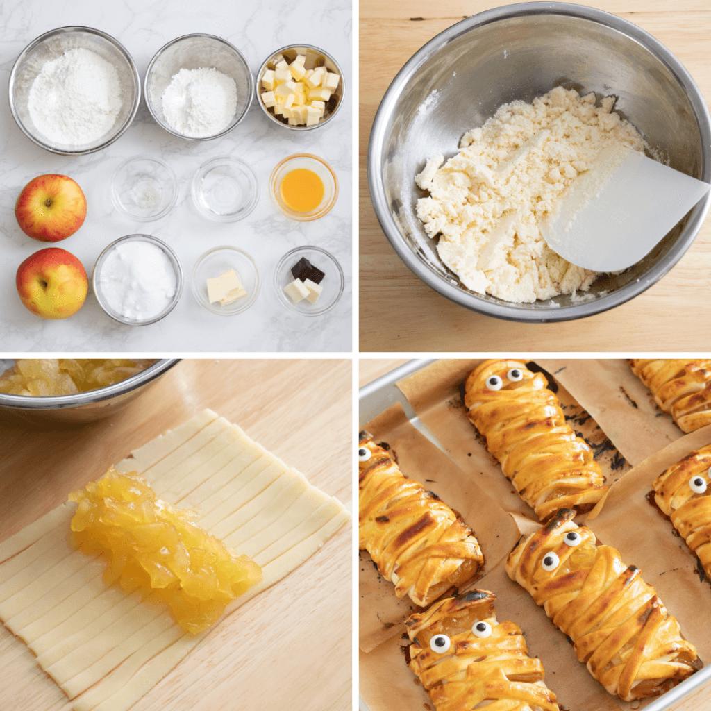 ぐるぐるミイラのアップルパイのレシピと作り方。 料理研究家・フードコーディネーター藤井玲子のレシピと料理写真。れこれしぴ